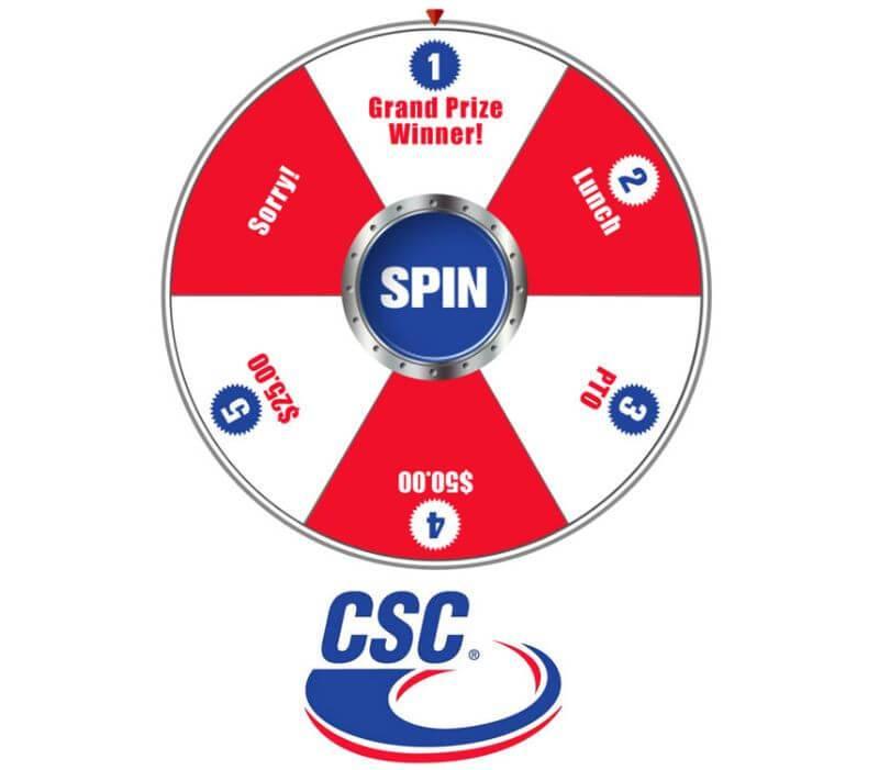 promotional digital prize wheel