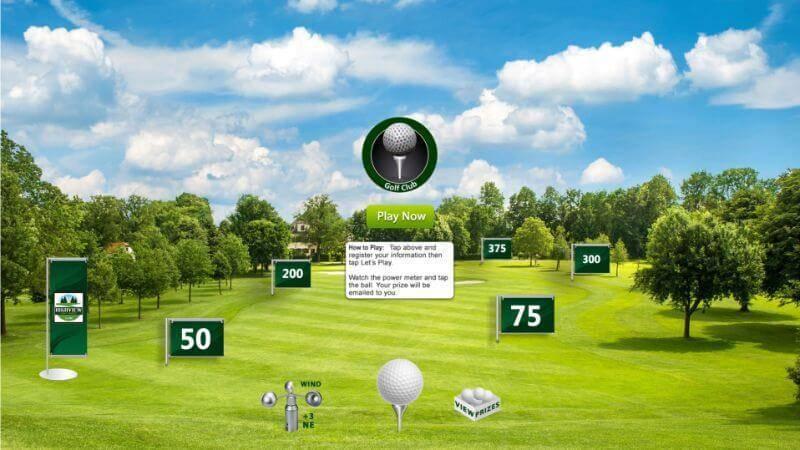 Golf digital marketing game