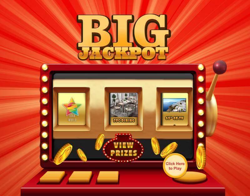 Trade show slot machine