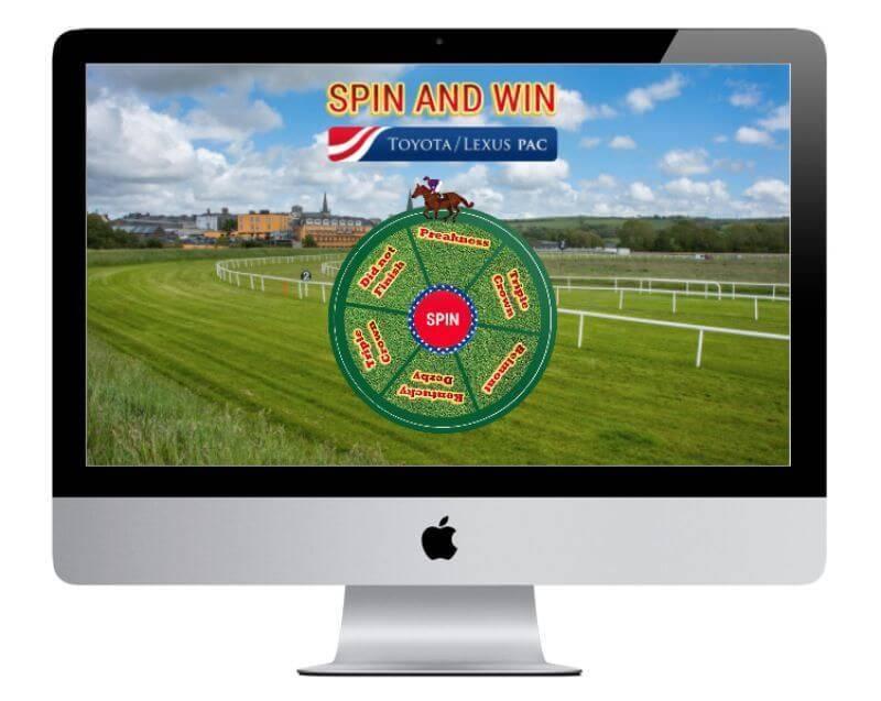 Branded prize wheel