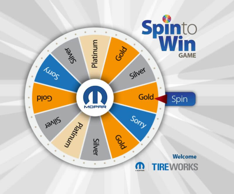 promotional trade show prize wheel