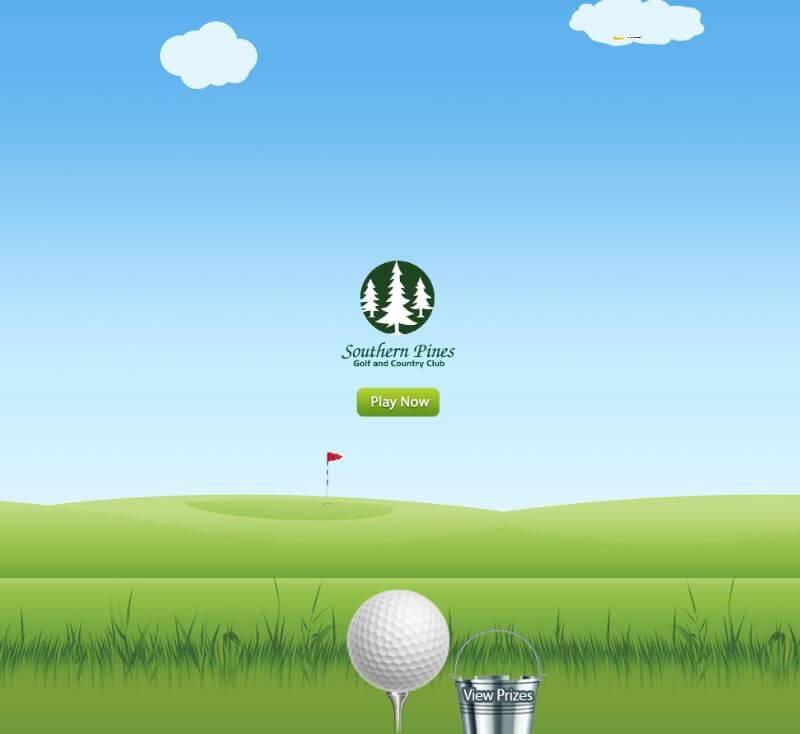 Golf trade show marketing game