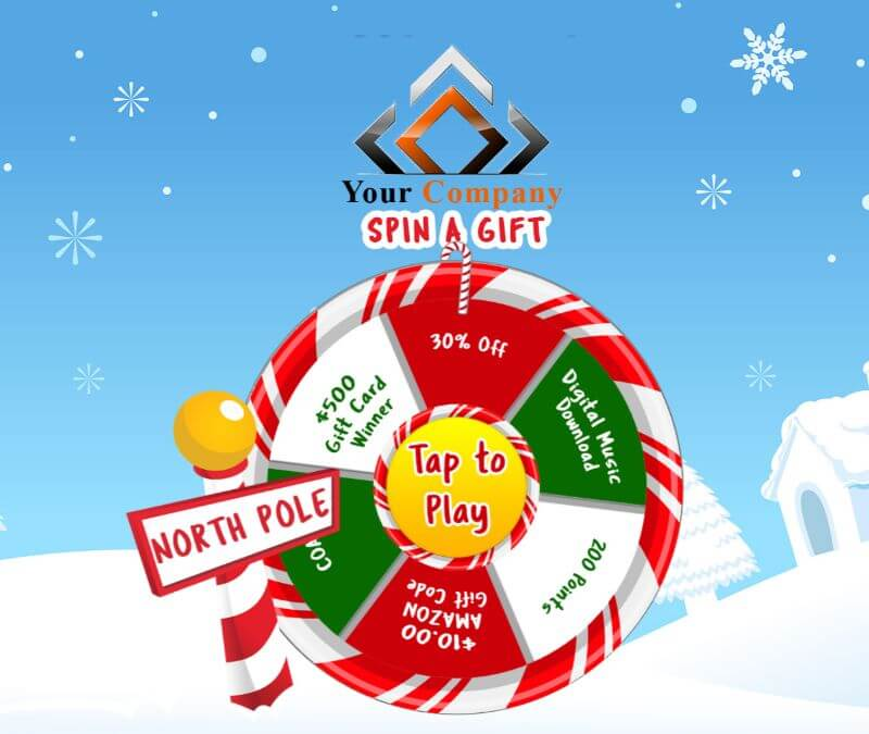 holiday promotional prize wheel