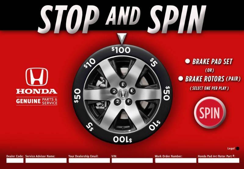 Trade show prize wheel game