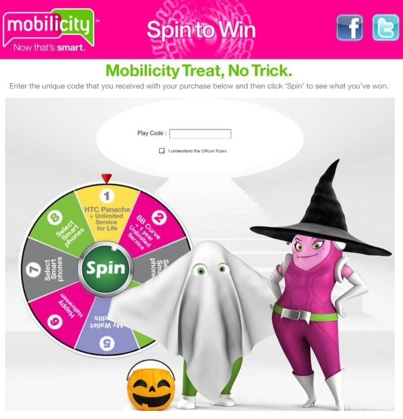 halloween spinning digital prize wheel