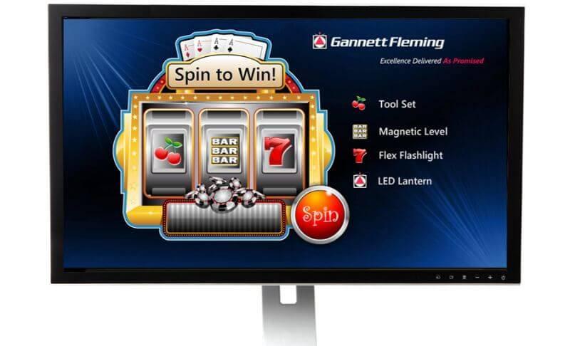 Event marketing slot machine