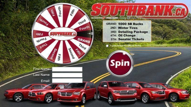 Trade show digital prize wheel