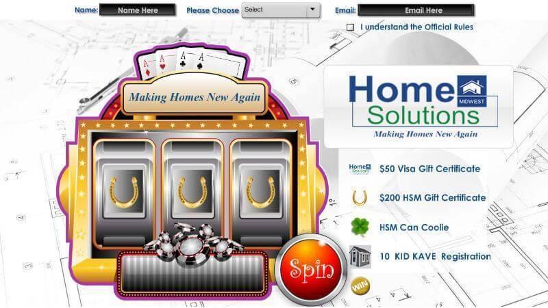 Slot machine for trade show