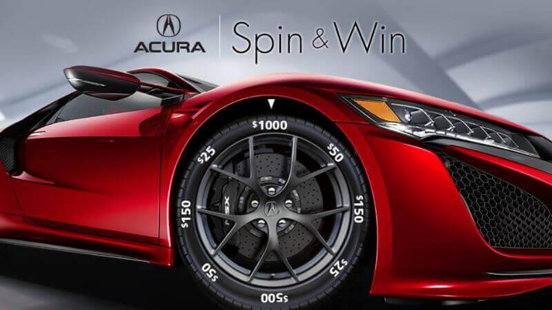 Interactive digital prize wheel