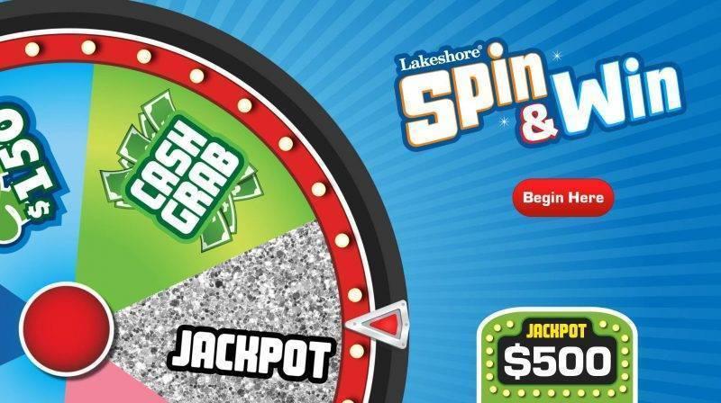 Virtual Prize Wheel for a Big Screen