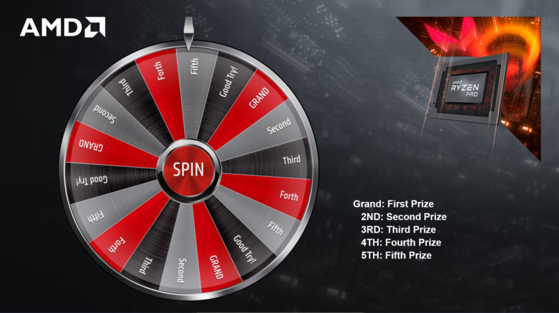 Virtual Prize Wheel image with many slices