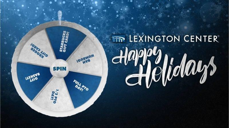 A holiday Virtual Prize Wheel