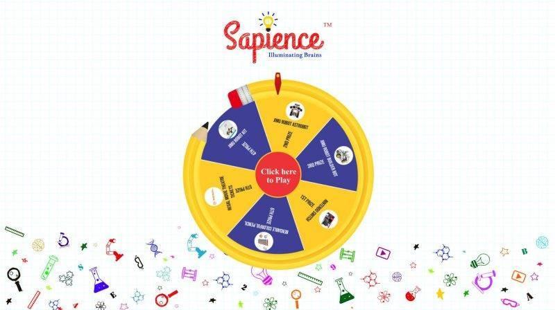 Educational Company Virtual Prize Wheel