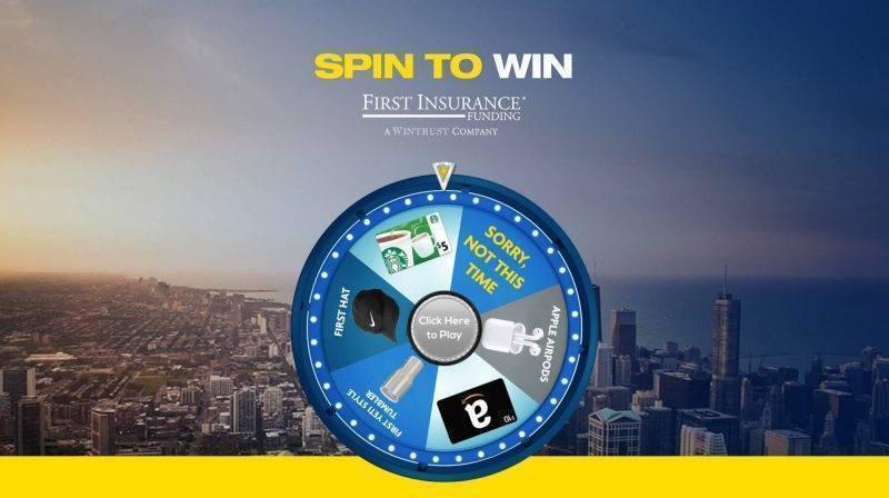 Virtual Prize Wheel for a bank