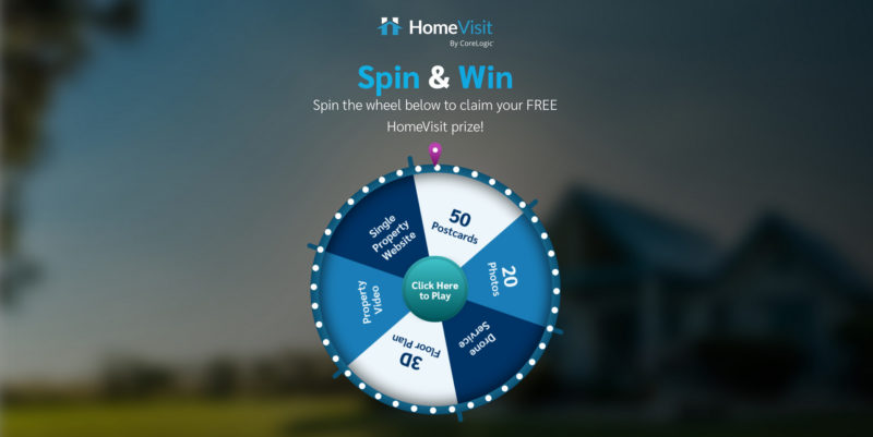 New business launch using a Virtual prize wheel