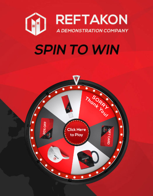 Virtual Prize Wheel Branded Game
