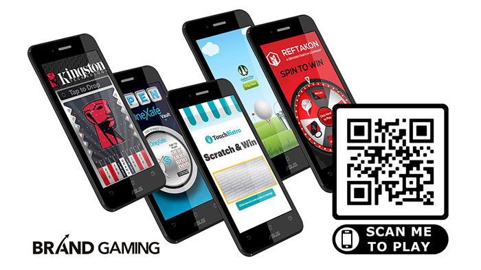 Mobile games used in marketing